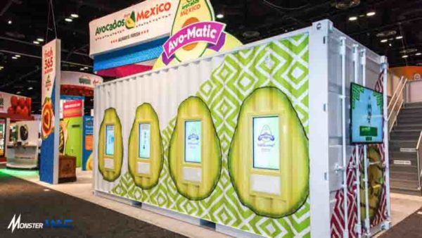 contoh booth container