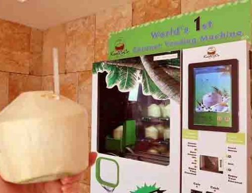Keren, Di Taiwan Ada Vending Machine Kelapa Muda