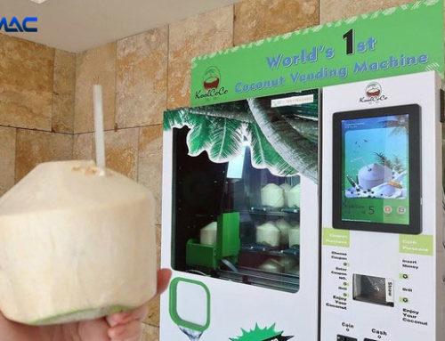 Keren,Beli Kelapa Muda bisa Di Vending Machine